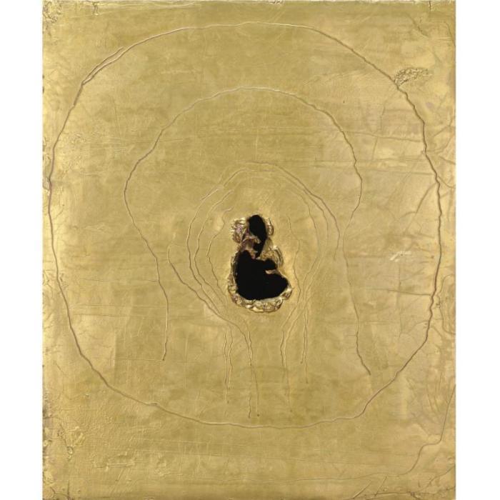 Lucio Fontana-Concetto spaziale-1964