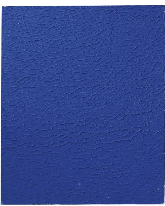 Yves Klein-Monochrome bleu sans titre (ikb 206)-1959