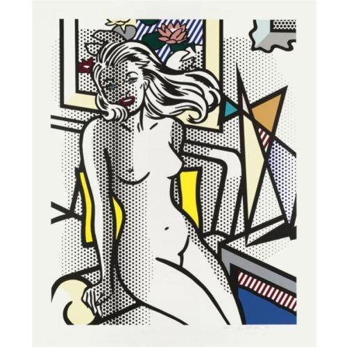 Roy Lichtenstein-Nude With Yellow Pillow (from the Nudes series)-1994