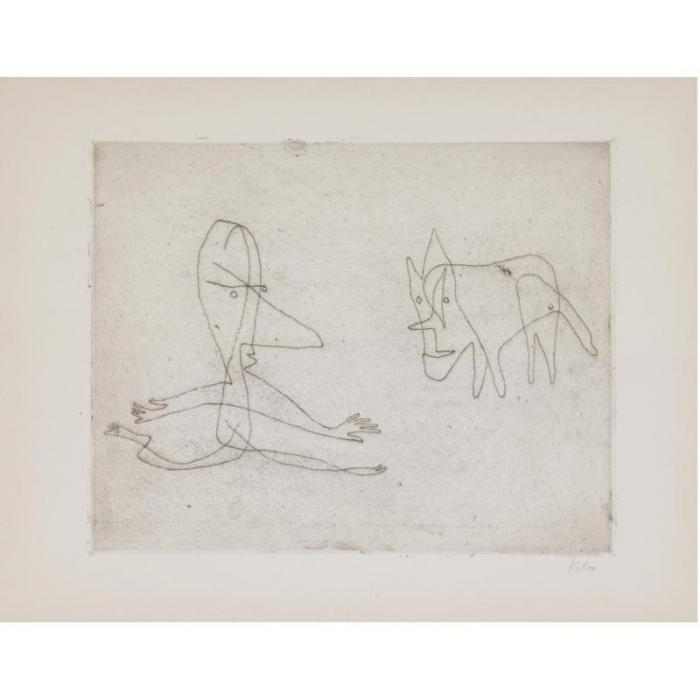 Paul Klee-Was Lauft Er ? (Why Does He Run?)-1932