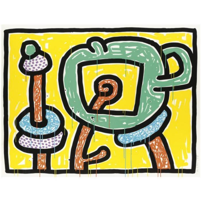Keith Haring-Keith Haring - Flowers 3-1990