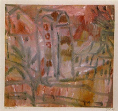 Paul Klee-Haeusergruppe (Group Of Houses)-1912