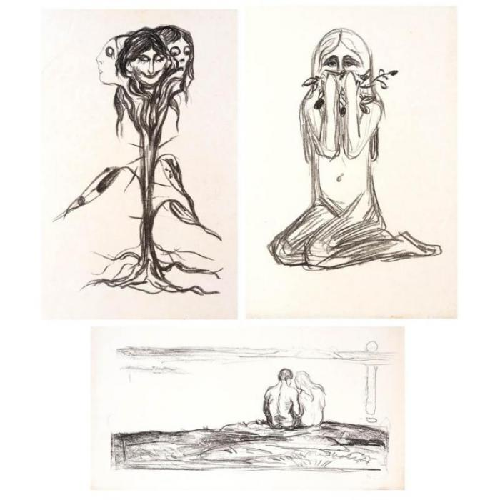 Edvard Munch-Alpha and Omega-1909