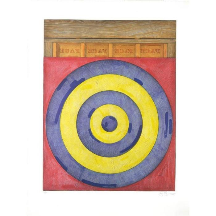 Jasper Johns-Target With Four Faces (Ulae 203)-1979