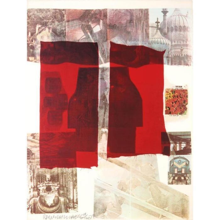Robert Rauschenberg-Robert Rauschenberg - Untitled (From Suite Of Nine Prints)-1979