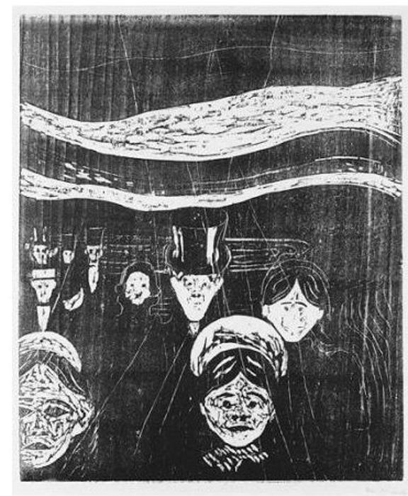 Edvard Munch-Angst / Anxiety (W. 93; Sch. 62)-1896