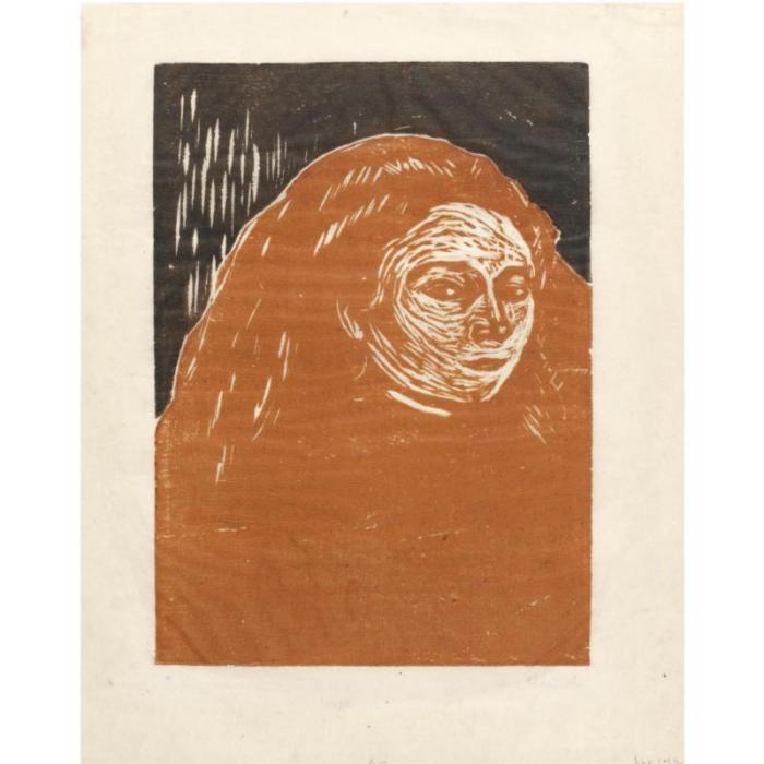 Edvard Munch-Woman's Head (Woll 153; Schiefler 130)-1899