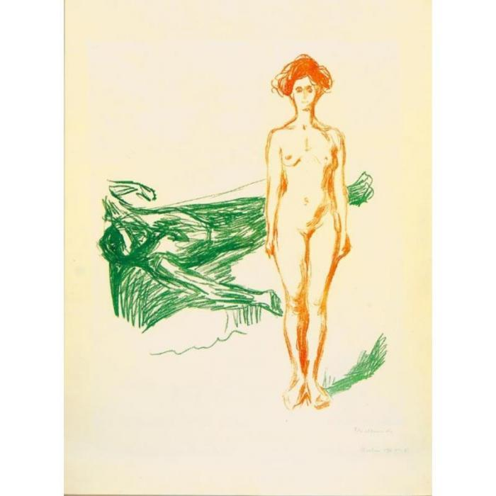Edvard Munch-The Death of Marat-1907