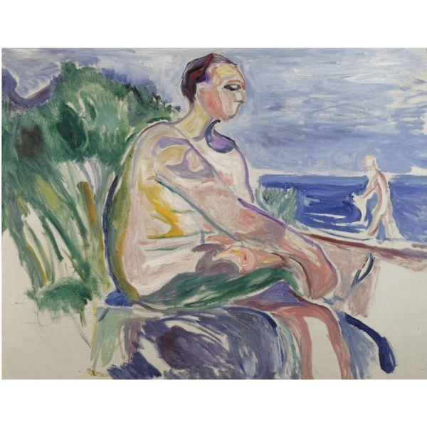 Edvard Munch-Christian Gieroff in Asgardstrand-1916