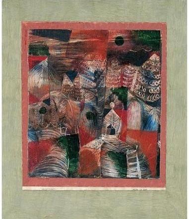 Paul Klee-Hutte Am Berg (Hut On The Mountain)-1922