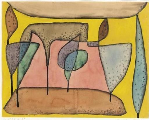 Paul Klee-Marchen Baume (Fairy Tale Trees)-1935