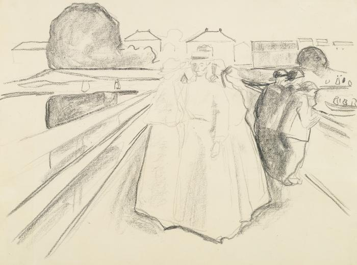 Edvard Munch-Women on the Bridge-1920