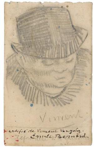 Vincent van Gogh-Tete d'homme-1887