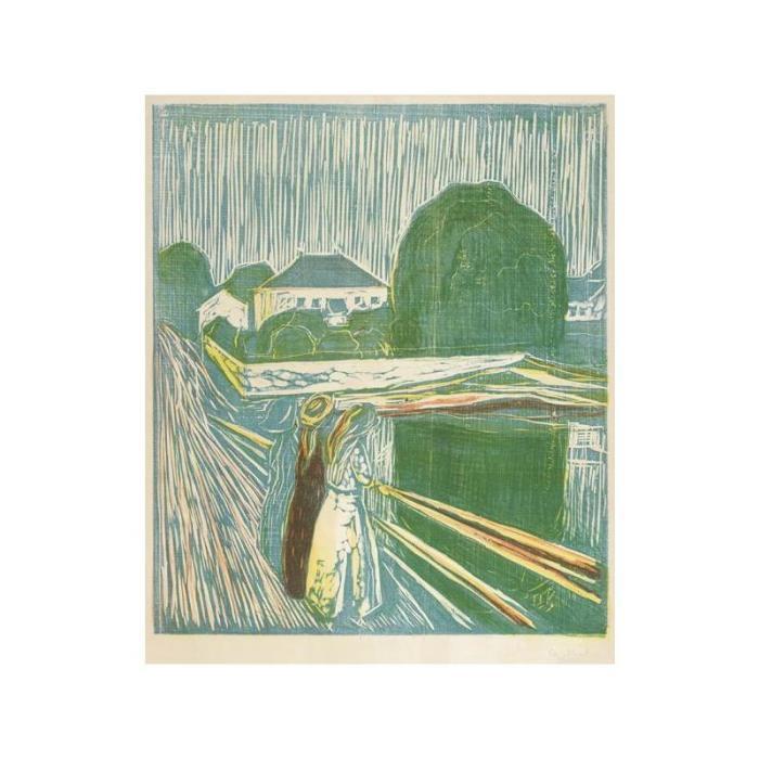 Edvard Munch-The Girls on the Bridge (Woll 628; Schiefler 488)-1918