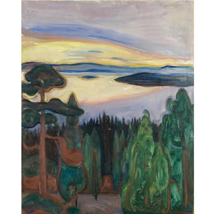 Edvard Munch-View from Nordstrand-1901