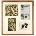 Marcel Duchamp-Untitled Collage (Four reproductions from Boite en valise)-1963