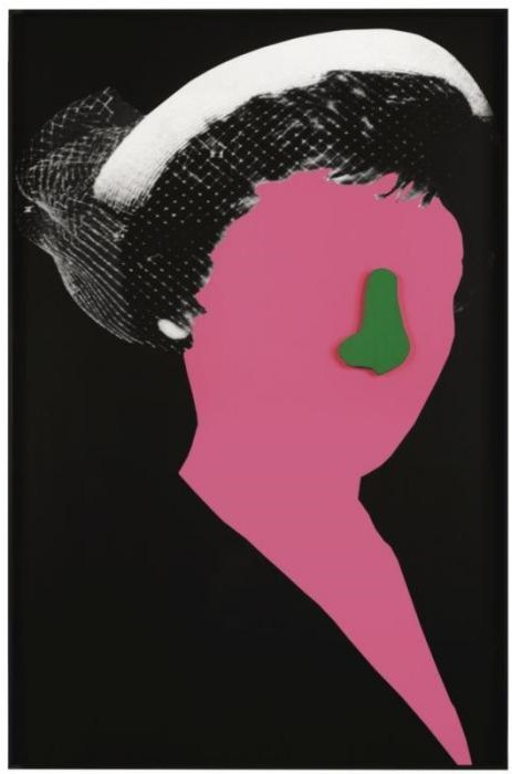 John Baldessari-Noses & Ears, Etc.: Head and Hat (with Nose)-2006