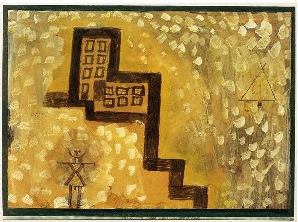 Paul Klee-Das Haus In Der Hohe (The House On High)-1923