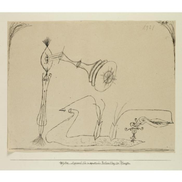 Paul Klee-Apparat fur magnetische behandlung der pflanzen (Apparatus for the magnetic treatment of plants)-1921