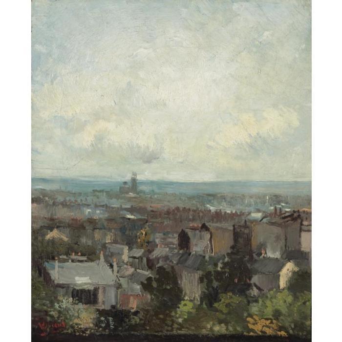 Vincent van Gogh-Vue de Paris aux environs de Montmartre-1886