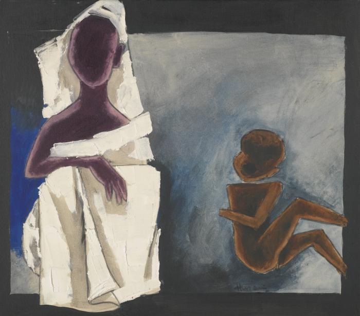Maqbool Fida Husain-Untitled (Children of Calcutta)-1975