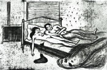 Edvard Munch-Dead Lovers (Dobbelt Selvmord)-1901
