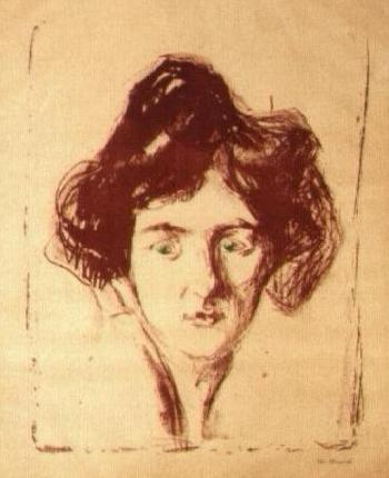 Edvard Munch-Berliner Madchen (Lady from Berlin)-1906