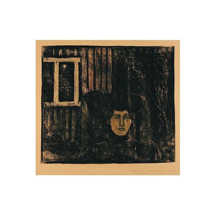 Edvard Munch-Maneskinn / Moonlight / Mondschein-1896