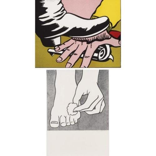 Roy Lichtenstein-Foot and Hand; Foot Medication-1964