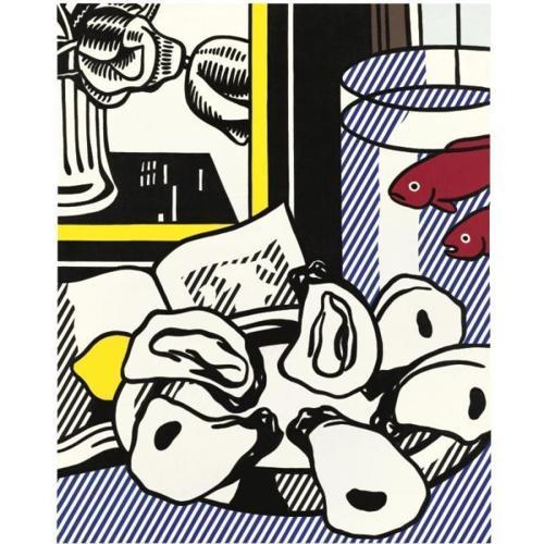 Roy Lichtenstein-Still Life with Oysters-1973