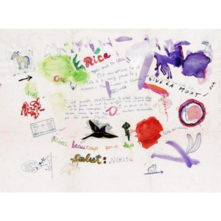 Niki de Saint Phalle-Letter from l'Auberge du Cheval Blanc-