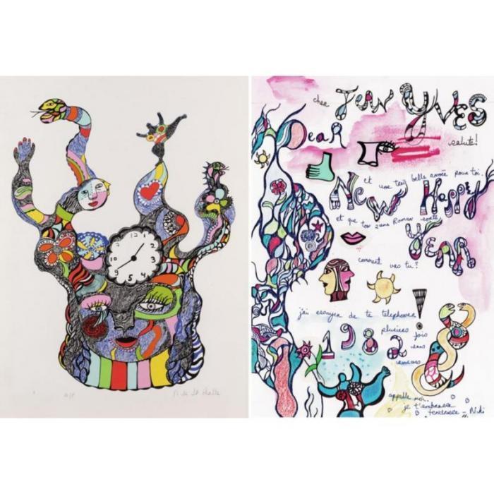 Niki de Saint Phalle-L'horloge-