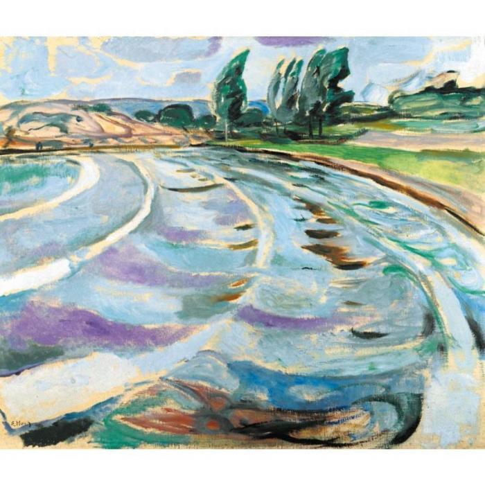 Edvard Munch-The Wave-1919