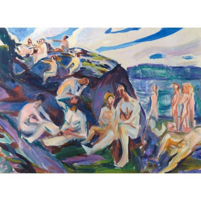 Edvard Munch-Men Bathing-1915