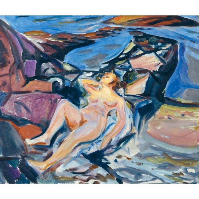 Edvard Munch-Ingeborg by the Fjord-1915