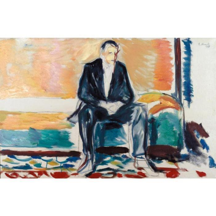Edvard Munch-Self-Portrait with Spanish Flu-1918