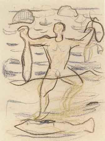 Edvard Munch-The Man from the Sea-1920
