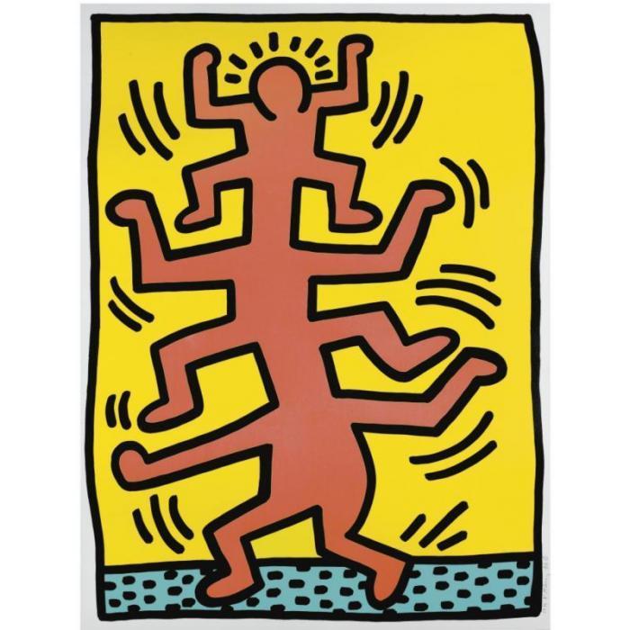 Keith Haring-Keith Haring - Growing: Plate No 1-1988