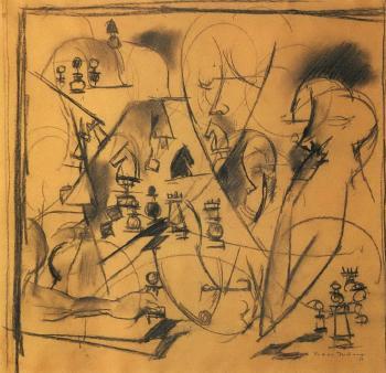 Marcel Duchamp-Study for Chess Players (Etude pour les joueurs d'echecs)-1911