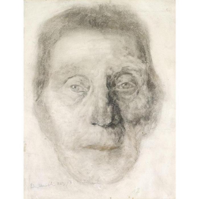 Edvard Munch-Head of an Old Woman-1883