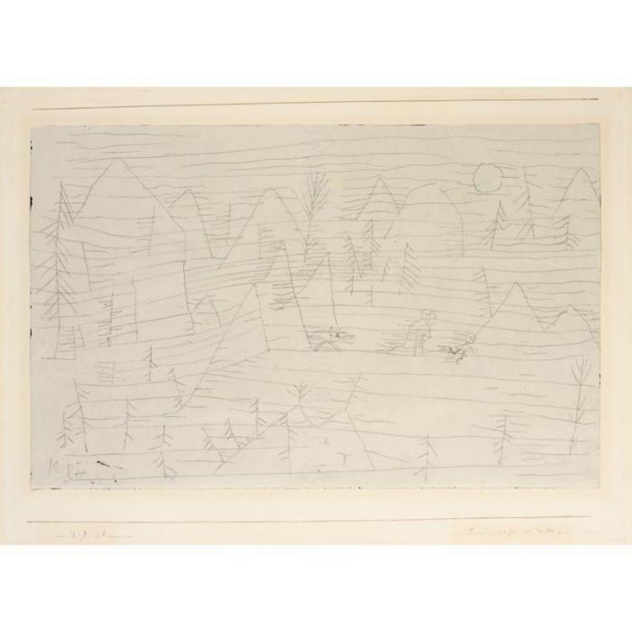 Paul Klee-Landschaft Mit D. Wolf (Landscape With The Wolf)-1929