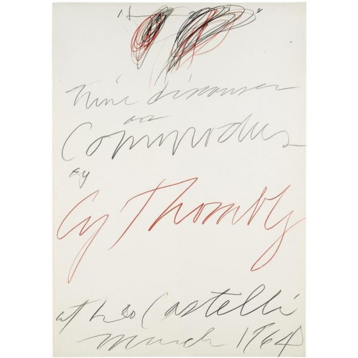 Cy Twombly-Nine Discourses on Commodus-1964
