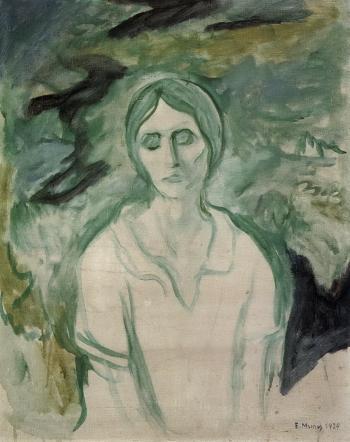 Edvard Munch-The Gothic Girl-1924