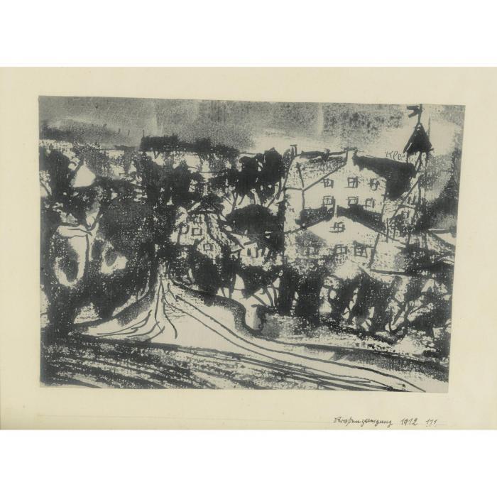 Paul Klee-Strassenverzweigung (Bei Aufgeweichtem Boden) (Street Junction (With Damp Ground))-1912