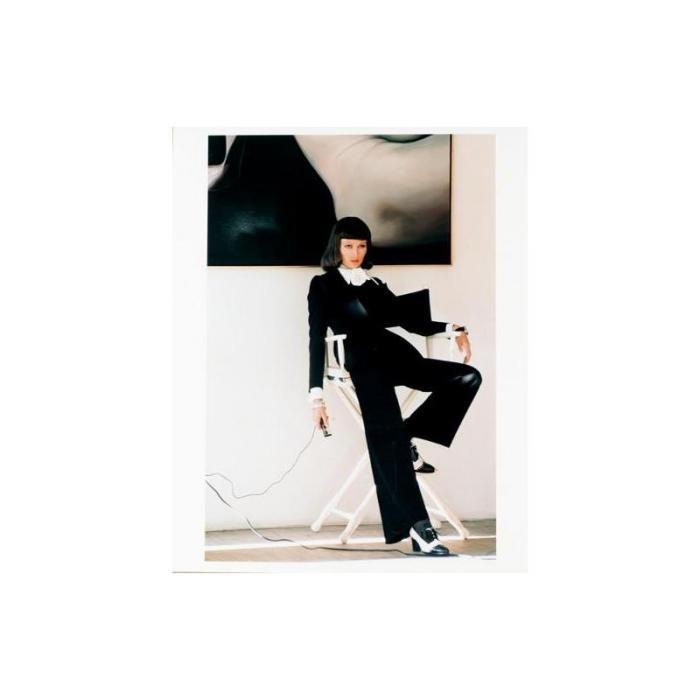 Helmut Newton-Fashion Study. Model In Trouser Suit, 1970s-1975