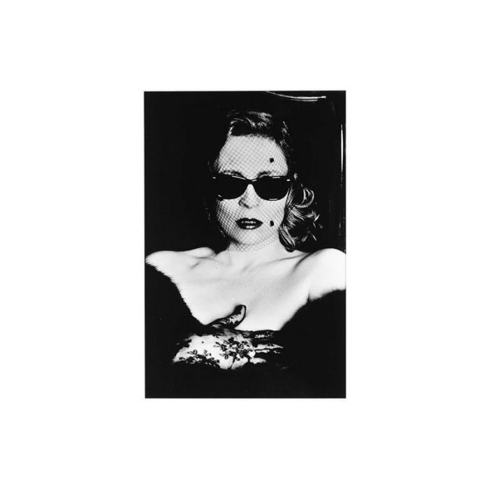Helmut Newton-Faye Dunaway with Veil and Sunglasses-1987