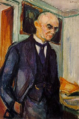 Edvard Munch-Portrait of Lucien Dedichen-1926