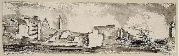 Paul Klee-Grobstadt Peripherie Abends (Periphery Of The Metropolis - evening)-1911