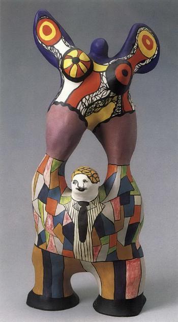 Niki de Saint Phalle-Le poete et sa muse-1976