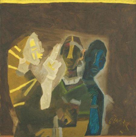 Maqbool Fida Husain-Untitled (Tribal Women)-1970
